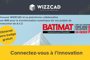 Badge client wizzcad pour Batimat 2019