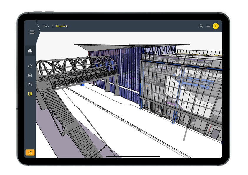Digital Twin, Use of BIM on a tablet with WIZZCAD S