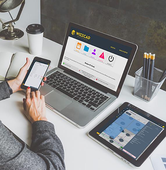 Utilisation de la plateforme v4 pour rehabilitation sur telephone tablette et ordinateur avec application wizzcad V4, mobilité et synchronisation