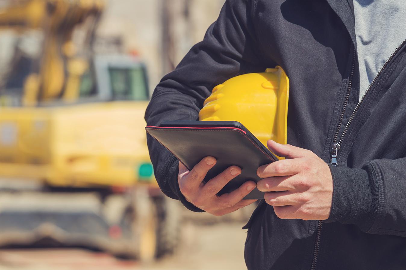 Utilisation tablette sur chantier pour mobilité plateforme wizzcad