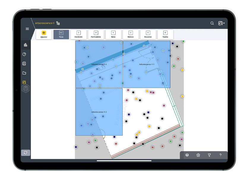 Tablet for field management with WIZZCAD