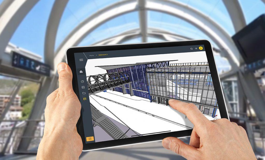 Jumeau numérique BIM sur tablette