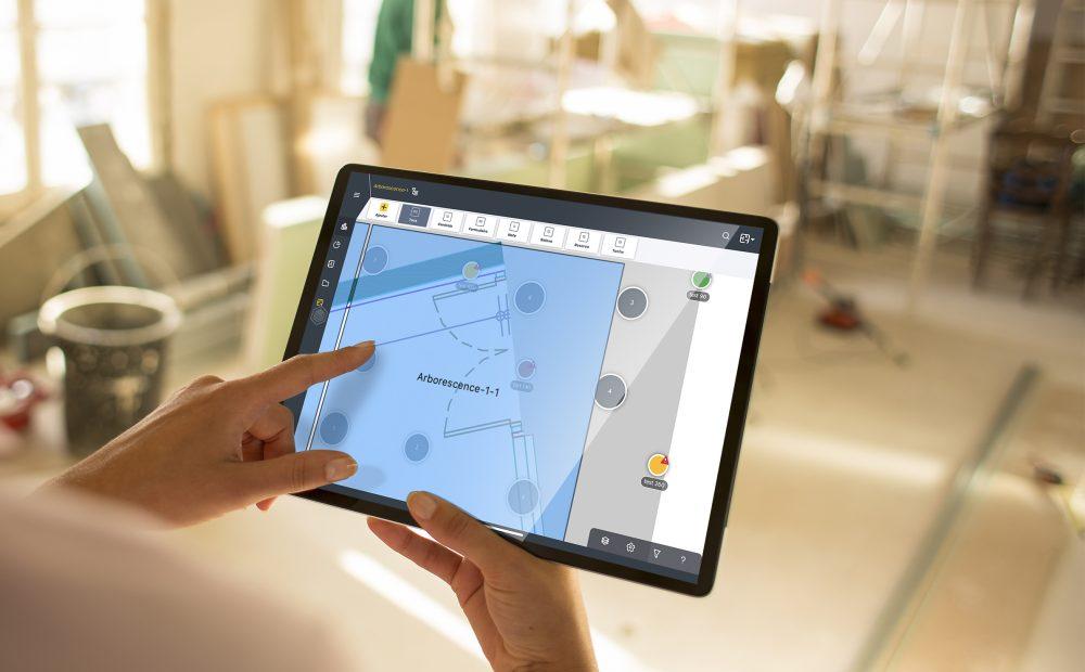Arborescence des plans en rehabilitation sur tablette avec Wizzcad v4
